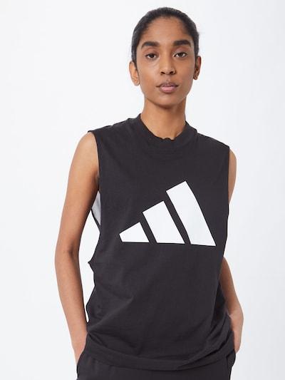 ADIDAS PERFORMANCE Športni top | črna / bela barva, Prikaz modela