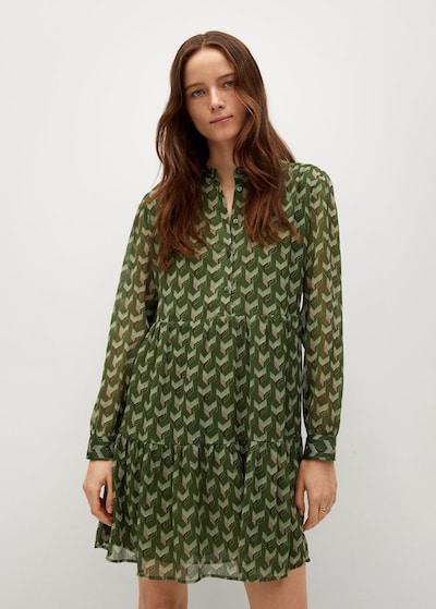 MANGO Kleid viena in grün, Modelansicht