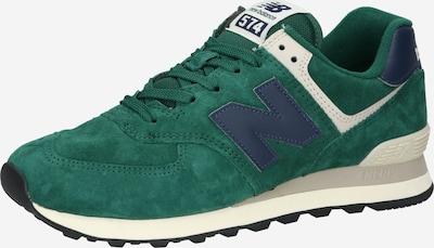 new balance Låg sneaker '574' i mörkblå / smaragd / vit, Produktvy