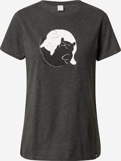 Iriedaily Camiseta 'Yi Ya Cat' en antracita / negro / blanco, Vista del producto