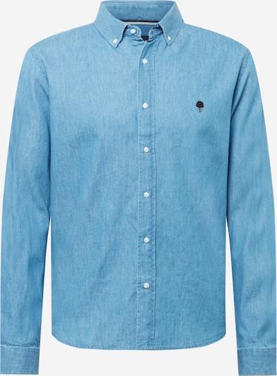 FAGUO Hemd 'IVOY' in blue denim / schwarz, Produktansicht