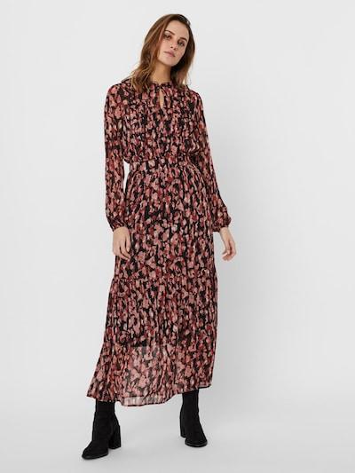 VERO MODA Kleid in dunkelrot / schwarz, Modelansicht