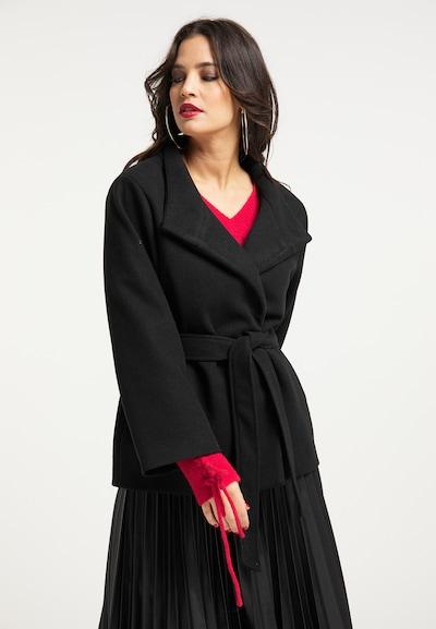 faina Übergangsmantel in schwarz, Modelansicht