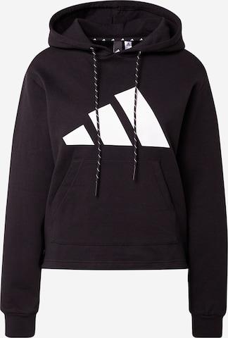 ADIDAS PERFORMANCE Athletic Sweatshirt in Black