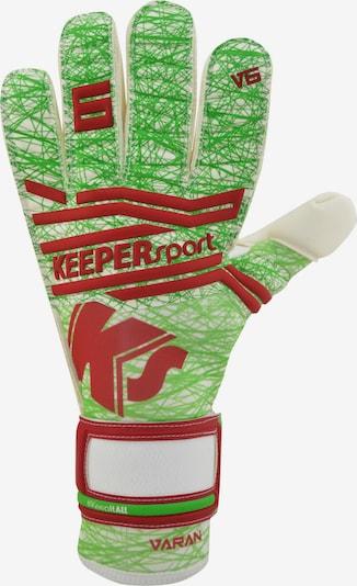KEEPERsport Handschuh in grün / rot, Produktansicht