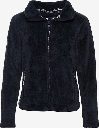 Superdry Fleece jas 'Hybrid' in de kleur Kobaltblauw, Productweergave