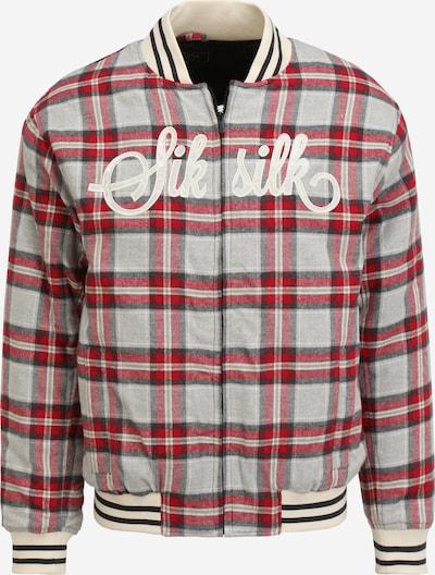 SikSilk Jacke in hellbeige / graumeliert / rot / weiß, Produktansicht
