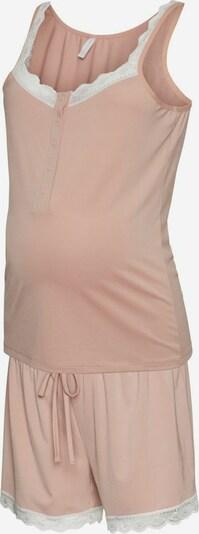 MAMALICIOUS Pyjama en rose clair / blanc, Vue avec produit