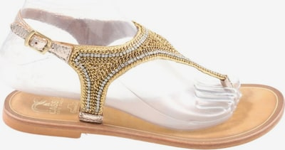 Cassis Zehentrenner-Sandalen in 38 in braun / gold, Produktansicht