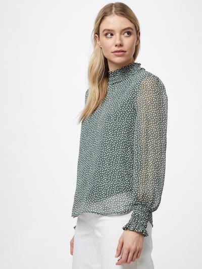 VERO MODA Blouse 'VMSMILLA' in de kleur Groen / Wit, Modelweergave