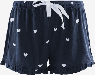 PJ Salvage Pantalon de pyjama ' Sleepy ' en bleu foncé, Vue avec produit