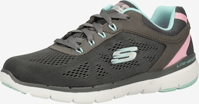 SKECHERS Sneakers in Turquoise / Grey / Dusky pink, Item view