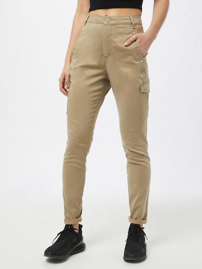 FIVEUNITS Pantalon cargo 'Jolie' en beige, Vue avec modèle