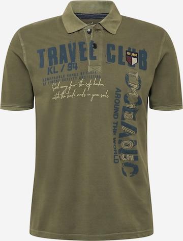 Key Largo Shirt 'FOREIGNER' in Green