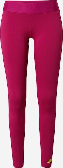 Pantaloni sport ADIDAS PERFORMANCE pe galben neon / zmeură, Vizualizare produs