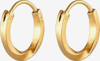 ELLI PREMIUM Ohrringe Creole, Twisted in gold, Produktansicht
