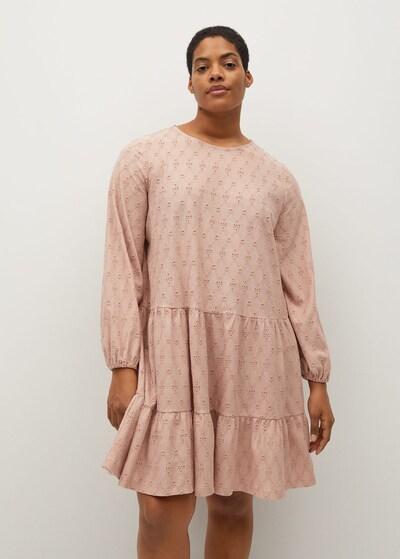 VIOLETA by Mango Kleid 'Rosita' in puder, Modelansicht