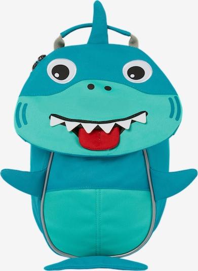 Affenzahn Rugzak 'Kleiner Freund Hai' in de kleur Turquoise / Hemelsblauw / Rood / Zwart / Wit, Productweergave
