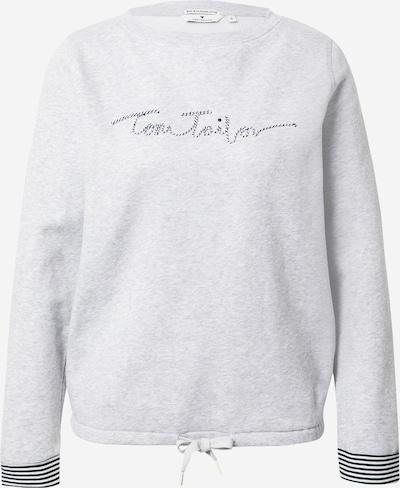 TOM TAILOR Sweatshirt in graumeliert / schwarz, Produktansicht