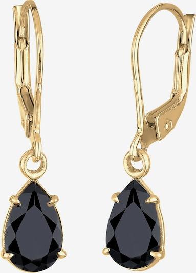 ELLI Oorbellen 'Tropfen' in de kleur Goud / Zwart, Productweergave
