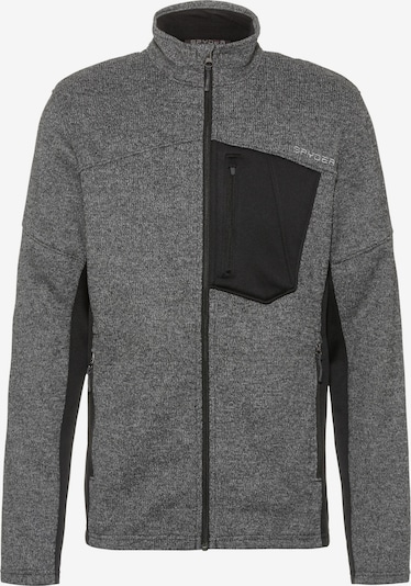 SPYDER Funktionsfleecejacke 'Bandit' in grau / schwarz, Produktansicht