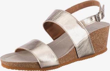 Sandales à lanières BULLBOXER en or