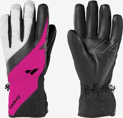 Zanier Handschuh 'AURACH.GTX' in fuchsia / schwarz: Frontalansicht