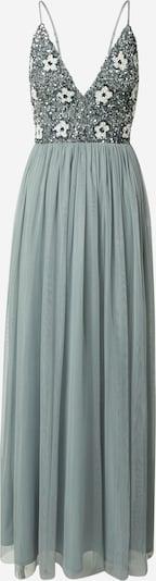 LACE & BEADS Вечерна рокля 'Avon' в светлосиво / бяло, Преглед на продукта
