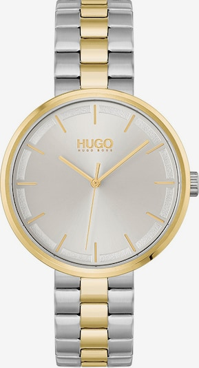 HUGO Analog Watch in Gold / Silver, Item view