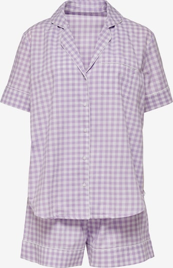 ONLY Pijama de pantalón corto 'Ellie' en lila claro / blanco, Vista del producto