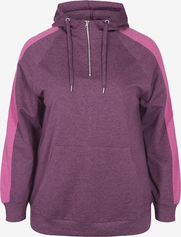 Active by Zizzi Sweatshirt 'CADEMI' in Purple