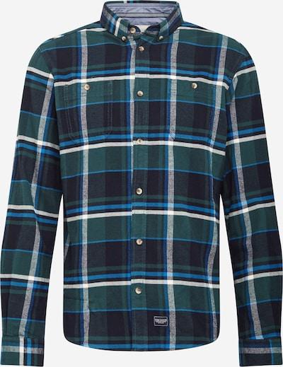 TOM TAILOR Košile - modrá / smaragdová / tmavě zelená / bílá, Produkt