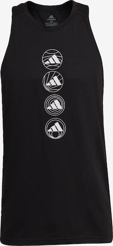 T-Shirt fonctionnel ADIDAS PERFORMANCE en noir