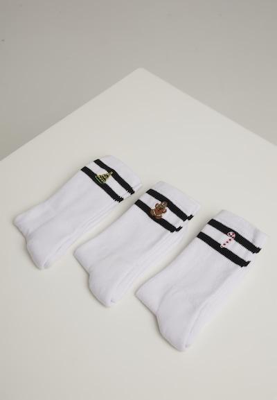 Urban Classics Sokken ' Christmas Sporty Socks Set ' in de kleur Wit, Productweergave