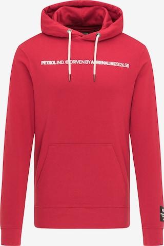 Petrol Industries Μπλούζα φούτερ σε κόκκινο