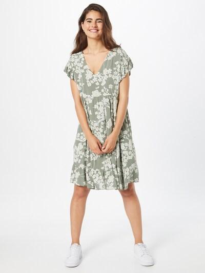 Hailys Kleid 'Jolene' in hellgelb / khaki / weiß, Modelansicht
