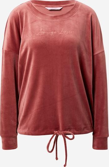 Hunkemöller Slaapshirt 'Top LS Velours Drawstring' in de kleur Rood, Productweergave