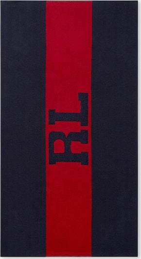 Ralph Lauren Strandtuch 'SIGNATURE' in dunkelrot / schwarz, Produktansicht