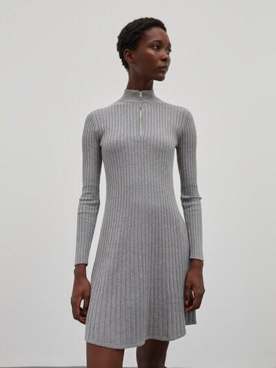 EDITED Šaty 'Karoline' - sivá melírovaná, Model/-ka