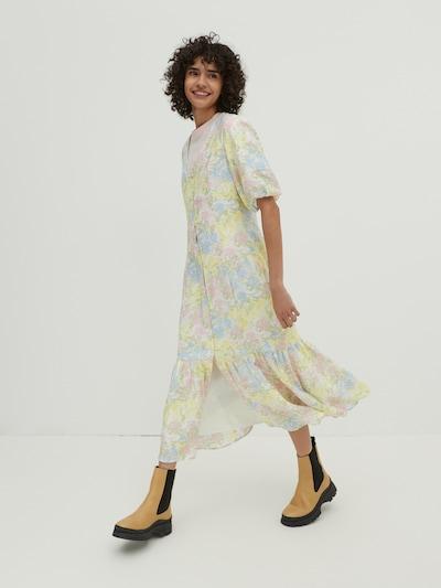 Rochie 'Catherine' EDITED pe albastru deschis / galben deschis / verde deschis / roz / alb natural, Vizualizare model