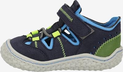 Pepino Sneakers in de kleur Navy / Lichtblauw / Neongeel, Productweergave