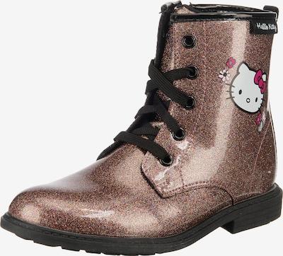 HELLO KITTY Stiefel in bronze / dunkelpink / schwarz / weiß, Produktansicht