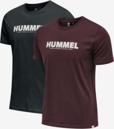Hummel Shirt in burgunder / schwarz, Produktansicht
