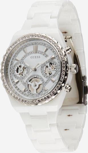GUESS Uhr in silber / weiß, Produktansicht