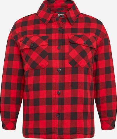 Urban Classics Curvy Bluse in rot / schwarz, Produktansicht