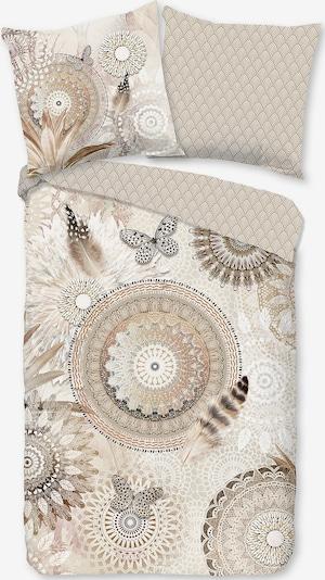 hip Bettbezug 'Kaskae' in beige / hellbeige / schwarz, Produktansicht