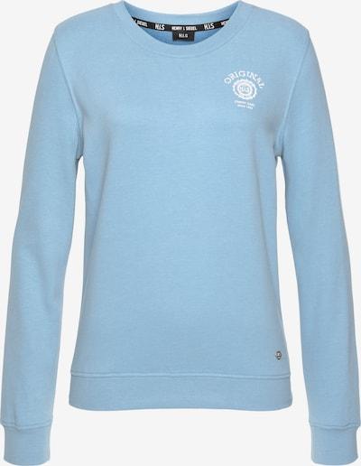 HIS JEANS Sweatshirt in hellblau / weiß, Produktansicht