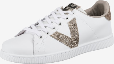 VICTORIA Sneaker in gold / weiß, Produktansicht