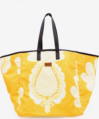 Kamoa Strandtasche in gelb / dunkelgelb / weiß, Produktansicht