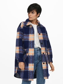 ONLY károvaná košilová bunda